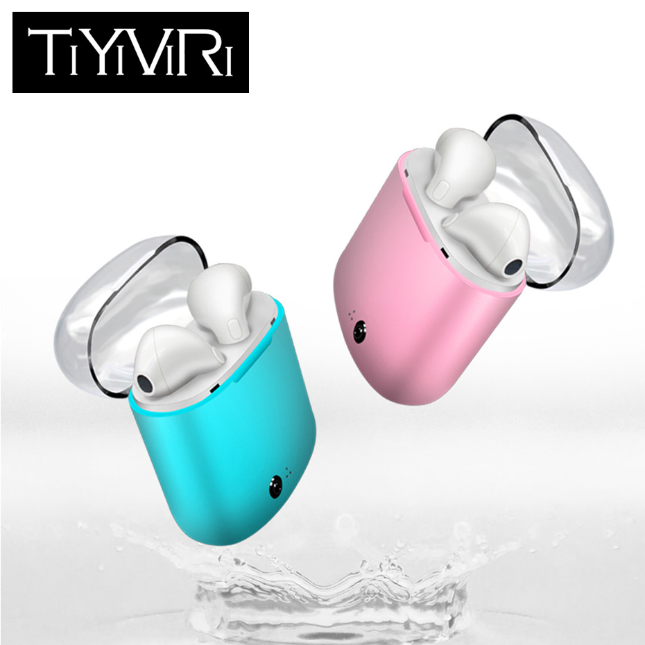 I7S TWS Mini Earphones Double Ear Bluetooth Headsets Earbuds Wireless Headphone Earphone Earpiece Air pods for iphone Android ifans mini i9s twins earbuds mini wireless bluetooth earphones i7s tws air headsets pods stereo headphones for iphone android pc