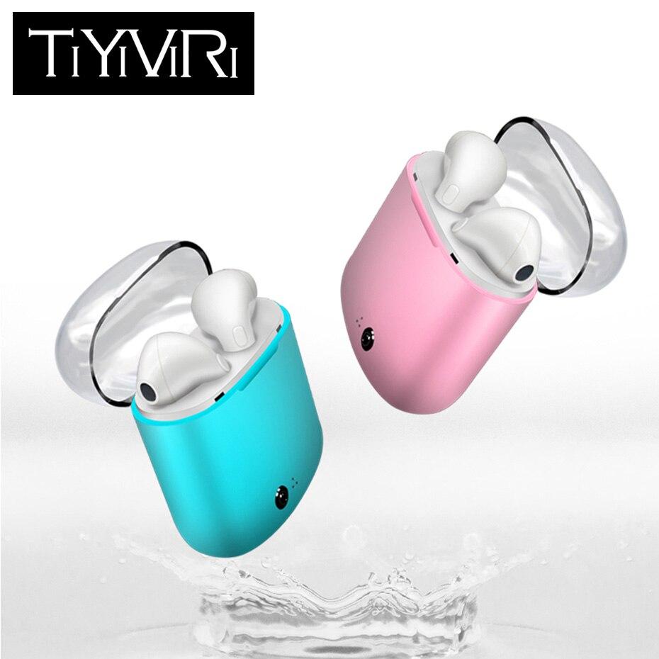 I7S TWS Mini Kopfhörer Doppel Ohr Bluetooth Headsets Ohrhörer Drahtlose Kopfhörer Kopfhörer Ohrhörer für iphone Xiaomi Huawei LG