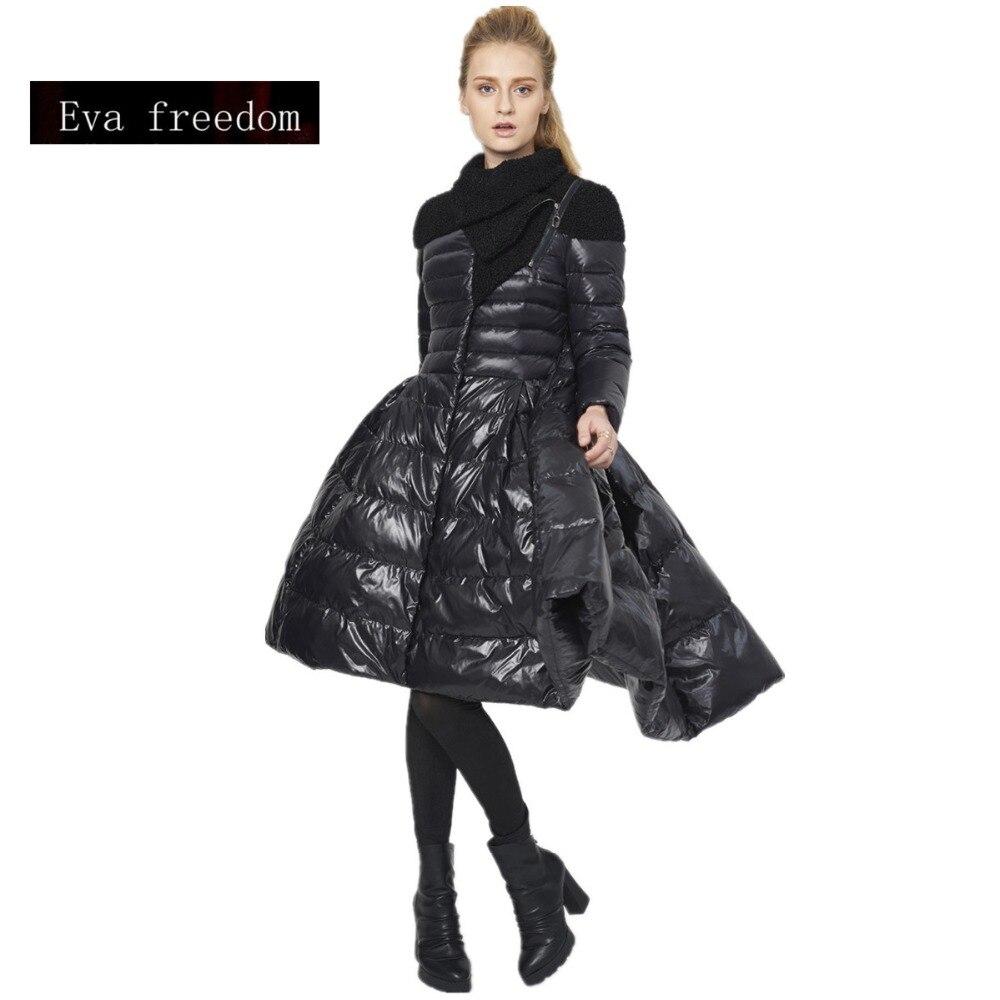 2017 new fashion brand big swing 90 White duck down parkas coat Europe creative design camouflage