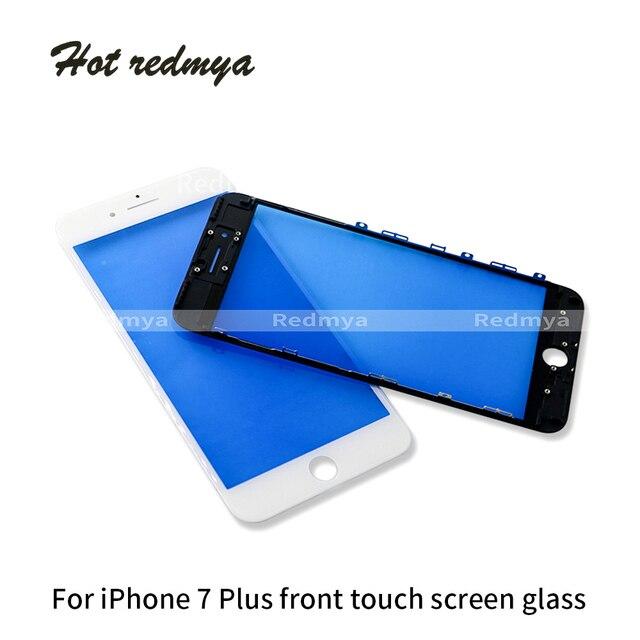 Bên ngoài Glass với Frame Cho iPhone 7 gam 7 cộng với 8 8 gam 8 Cộng Với MÀN HÌNH LCD Phía Trước Màn Hình Cảm Ứng Thủy Tinh bezel + Bảng Điều Khiển Khung Digitizer Cảm Biến Các Bộ Phận