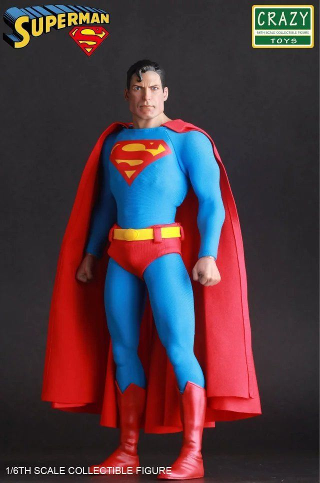 цена на CRAZY TOYS DC COMICS CLASSIC SUPERMAN 1/6 SCALE COLLECTIBLE ACTION FIGURE STATUE NEW IN RETAIL BOX