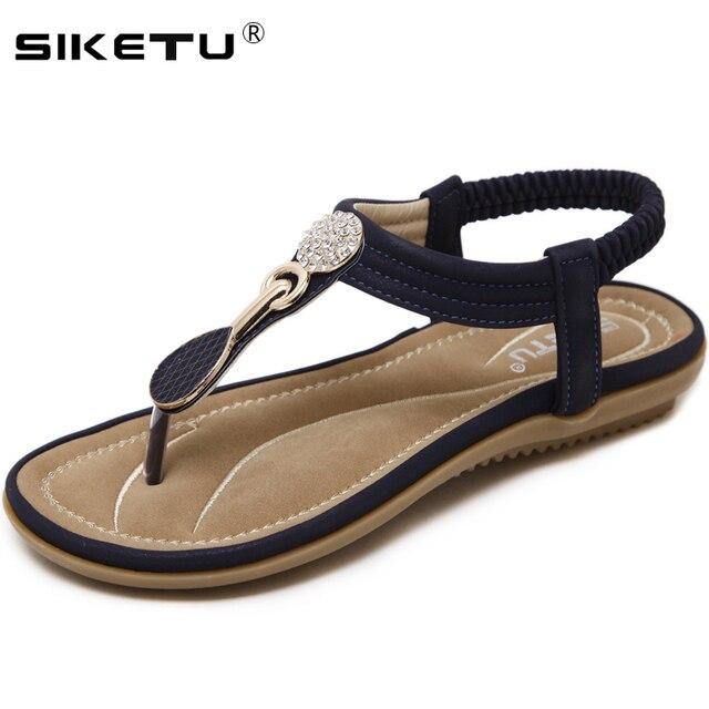 SIKETU Women Flat Sandals Summer Shoes Woman Beach Comfortable Flip Flops  Large Size Sandals Women Fashion 7feb04945990