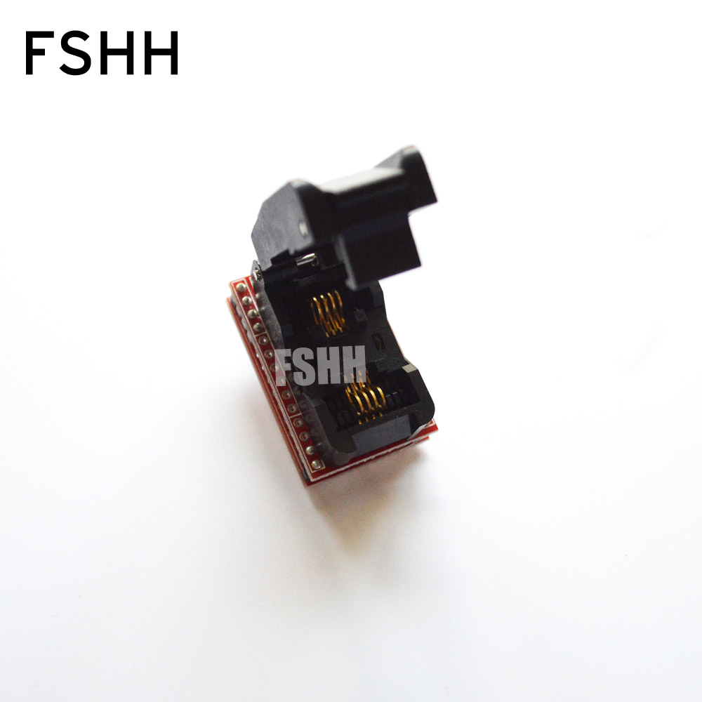 FSHH 208mil SOP8 to DIP8 Programmer adapter FP8 SOIC8 ic test socket 100pcs irf7416 sop8