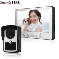 SmartYIBA 7 inch TFT LCD Video intercom no radiation, low power consumption With Waterproof Outdoor IR Camera Night Vision color