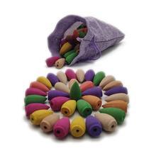Natural Backflow Fragrant Incense Cones Sandalwood With Cloth Portable 35pcs/75pcs Per Lot