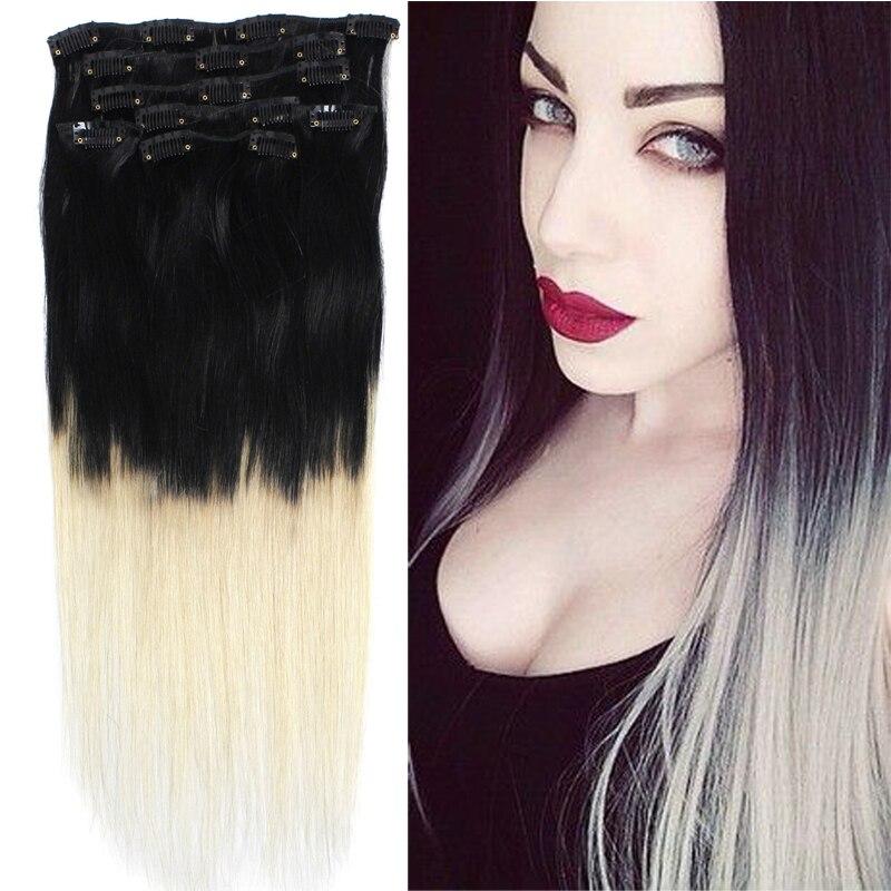 18 70 Gramm Ombre Haarfarbe 1613 Schwarz Auf Weiß Blonde