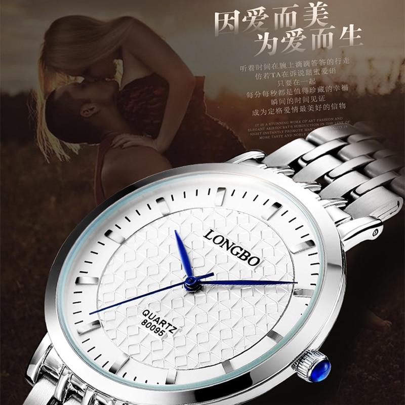 LONGBO Luxury Brand Full Steel Watches Women Waterproof Fashion Casual Sports Quartz Watch Dress Business Lady