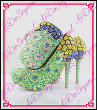 Aidocrystal New models italian crystal shoes with matching Nice ladies Evening clutch bags