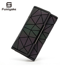 2018 Noctilucent Women Wallets Purse Geometry Luminous Ladie