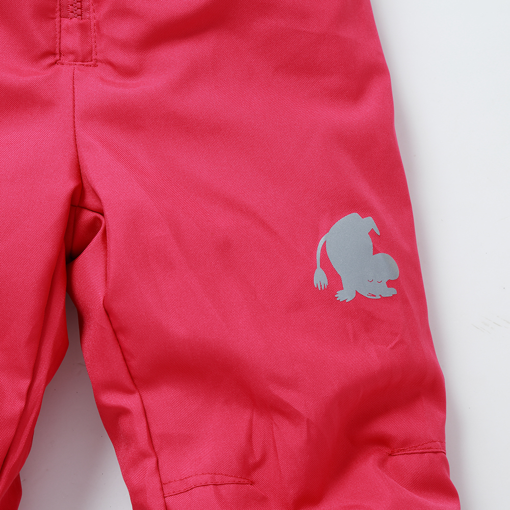 Image 5 - winter girls snow pants  2017 new moomin windproof overall Cotton Geometric Loose Zipper Fly Red waterproof  overall winter pant-in Overalls from Mother & Kids
