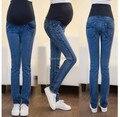 2016 новые штаны для беременным мода ухода за беременными женщинами живот брюки ноги стильные джинсы беременным