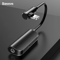 Baseus Aux Audio Adapter For iPhone Xs Max Xr X 8 7 Plus Splitter to 3.5mm Jack Earphone Headphone Converter OTG Cable Connector