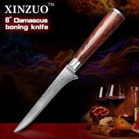 XINZUO 5.5 Bone Filleting Knives 73 layer Damascus Steel Kitchen Knives Damascus VG 10 Japanese fish knife kitchen chef tools