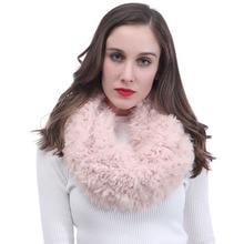 Простой цвет Женский Искусственный мех ЗИМА бесконечный петлевой шарф снуд пушистый мягкий