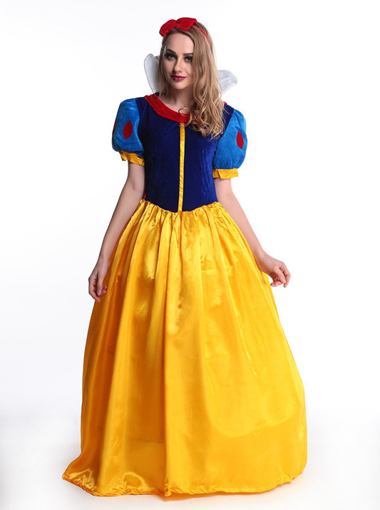 Women Snow White Fancy Dress Costume Fairy Tale Princess Queen Halloween Xmas