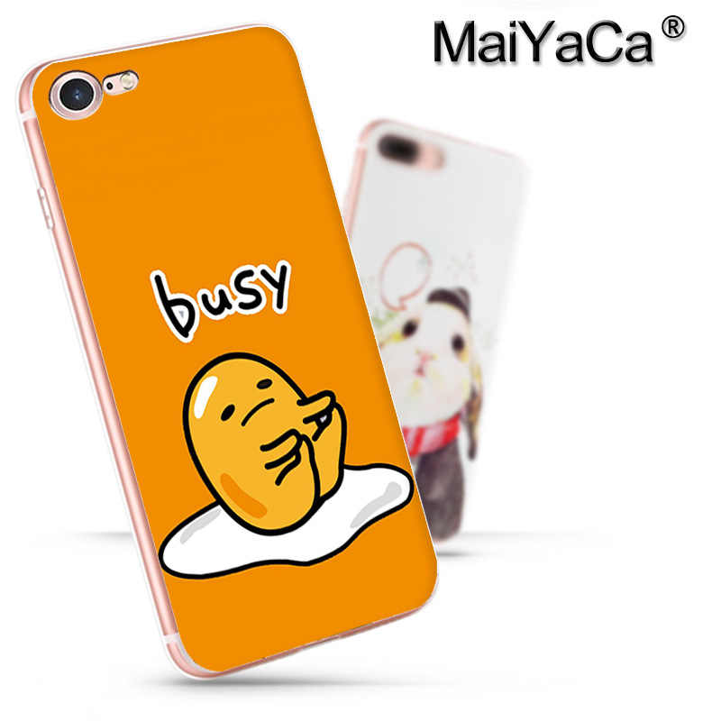 MaiYaCa かわいい gudetama 怠惰な卵 2017New 高級ファッション携帯電話ケースアップル iphone 11 プロ 8 7 66S プラス × 5S 、 SE XS XR XS 最大