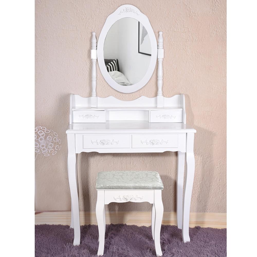 Panana 4 ящика туалетный столик набор туалетный столик с мягким табуретом спальня макияж стол черный
