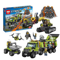 Model Building Kits Compatible With Lego City 60124 Operations Center Truck Excavator Dumper 3D Brick Model