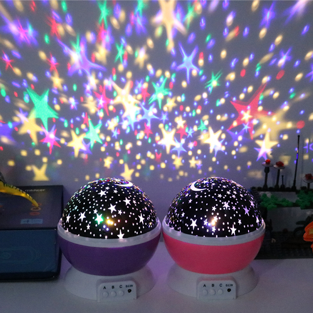 Novelty Luminous Toys Romantic Starry Sky LED Night Light Projector Battery USB Night Light Creative Birthday Toys For Children 5