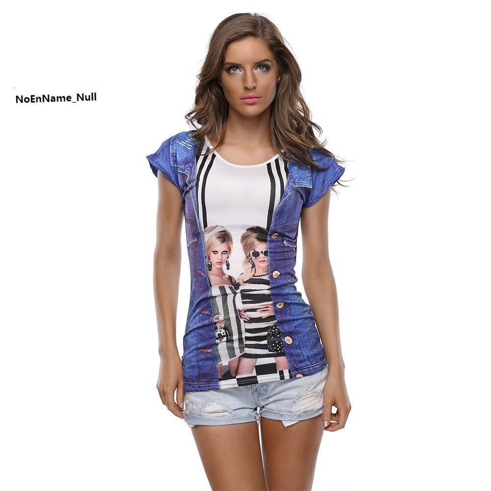 Camisetas Tees sexy algodón Noenname camiseta null mujer VERANO Top Tops 3D  modas mujeres camiseta imprimir ... ef6a14a21e8