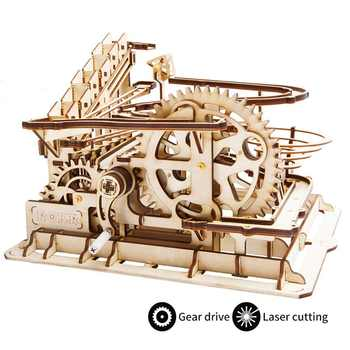 Robud DIY Waterwheel Coaster   Wooden Model Building Kits Assembly Toy   4 Kinds Marble Run Game For Children Adult LG - DISCOUNT ITEM  41% OFF All Category