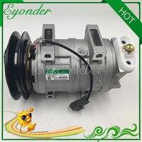 DKS15CH AC A/C compressor de Ar Condicionado Bomba De Refrigeração para HITACHI KENKI HEAVY DUTY MÁQUINA 506011-9910 4456130 TH4713906
