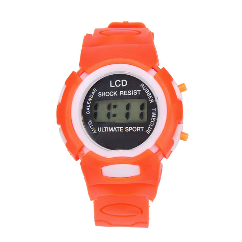 Dropshipping Boys Girls Students Time Clock Electronic Digital LCD Wrist Sport Watch relogio masculino Dropshipping 5Down new fashion design unisex sport watch silicone multi purpose date time electronic wrist calculator boys girls children watch