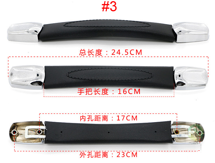 Top quality Luggage Handle Grip Spare Fix Holders Box Pull Carry Strap Luggage Repair Accessories Replacement Suitcase 7021-3