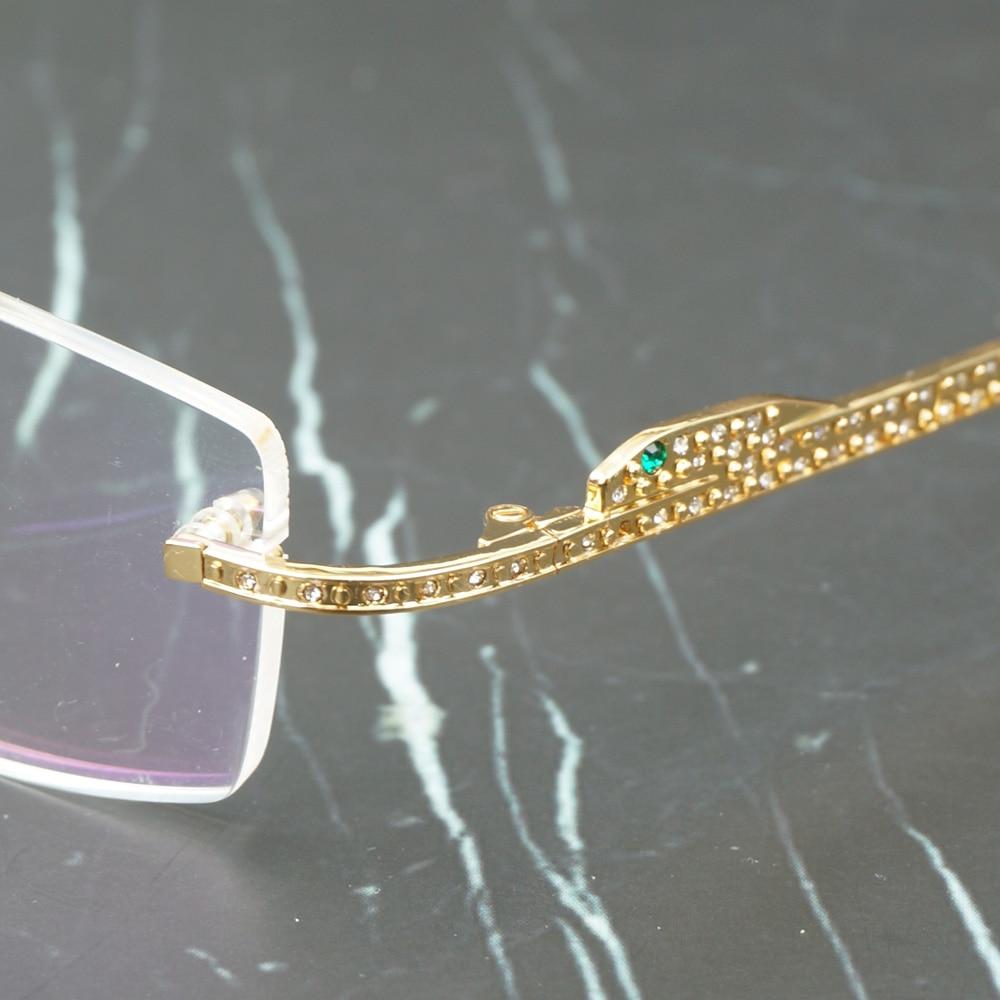 Panther lunettes cadre Carter lunettes de soleil pour femmes et hommes sans monture lunettes pour lire luxe décoration Gafas 0146 - 4