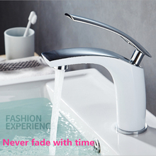 Modern bathroom faucets Grilled White/Plated Sliver Sink faucet Single Hole Single Handle Basin Faucet Torneria MixerTap
