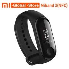 [NFC версия] Xiaomi Mi группа 3 NFC смарт-браслет miband 3 Фитнес Tracker 0,78 »OLED Дисплей Touchpad Bluetooth 4,2
