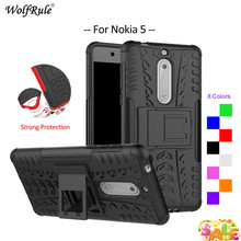 For Cover Nokia 5 Case WolfRule TPU & PC Holder Armor Bumper Protective Back Phone Case For Nokia 5 Cover For Nokia5 2017 5.2'' стоимость