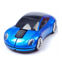 Creative Sports Car Shape 2.4GHz Wireless Mouse 1600DPI Optical Gaming Mouse Mice for Computer Laptop