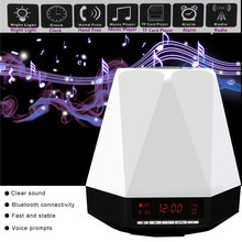 SVPRO music speakers surround sound stereo speaker with battery, audio,clock, bluetooth, seven color LED lamp