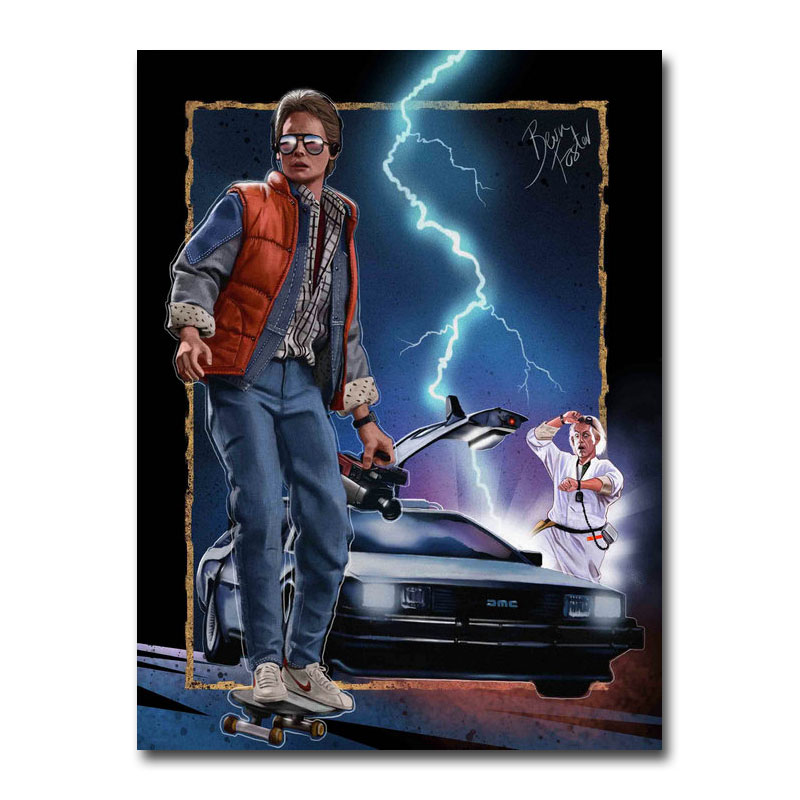 Back to the Future 1 2 3 Amazing Movie Silk Canvas Poster 13x18 24x32 inch