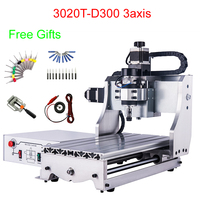Mini CNC milling machine 300*200mm working area 300W CNC Router Engraver 3020 3axis for PCB and woodworking