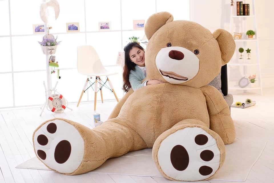 2016 200cm 78 39 39 inch giant stuffed teddy bear big large huge brown plush stuffed soft toy kid. Black Bedroom Furniture Sets. Home Design Ideas