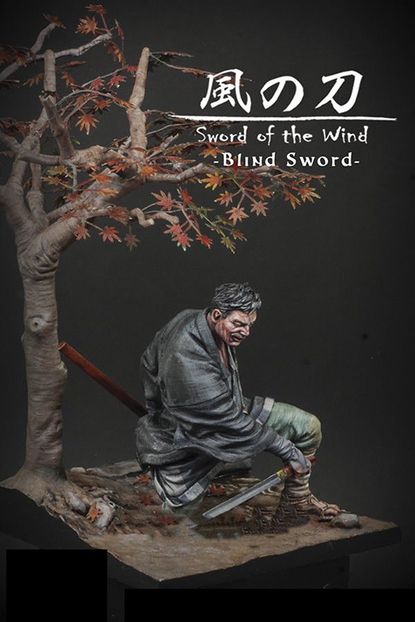 1/24 75mm The Ancient Warrior  Of Blind Sword Samurai 75mm  Toy Resin Model Miniature Kit Unassembly Unpainted  Historical