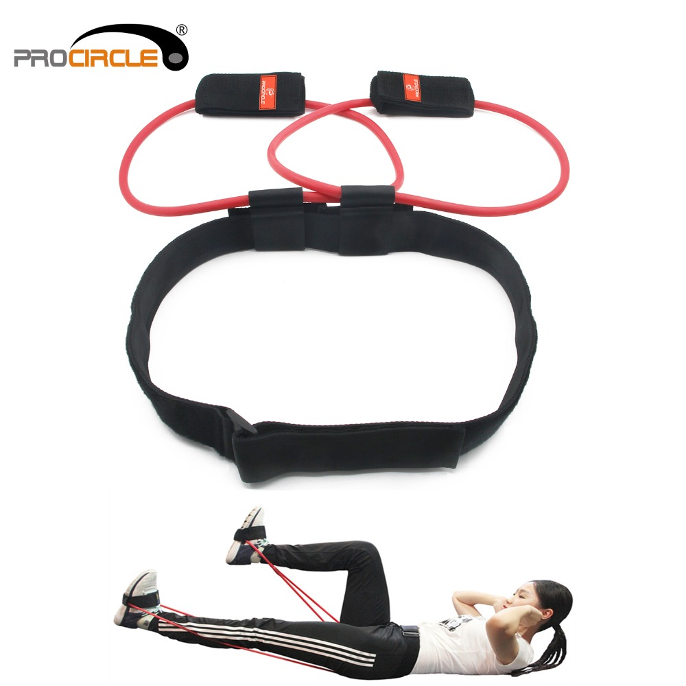 Fitness mujeres Booty Butt Band Resistance Bands ajustable cintura cinturón Pedal ejercitador para Glutes músculo entrenamiento bolsa libre