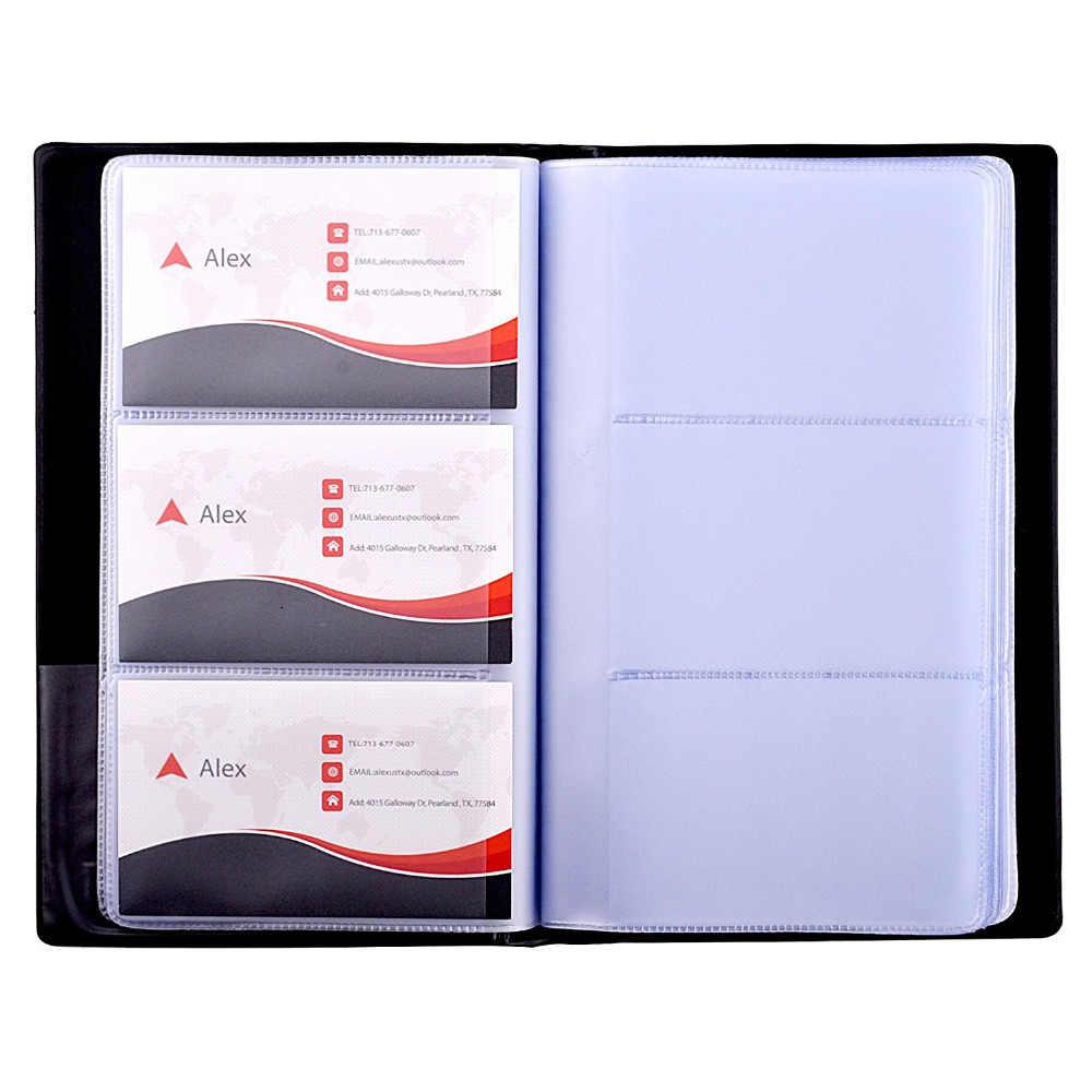 بو الجلود حامل كتب بطاقة الأعمال مجلة منظم بطاقات الأعمال اسم بطاقة حامل كتب-عقد 240 بطاقات سوداء