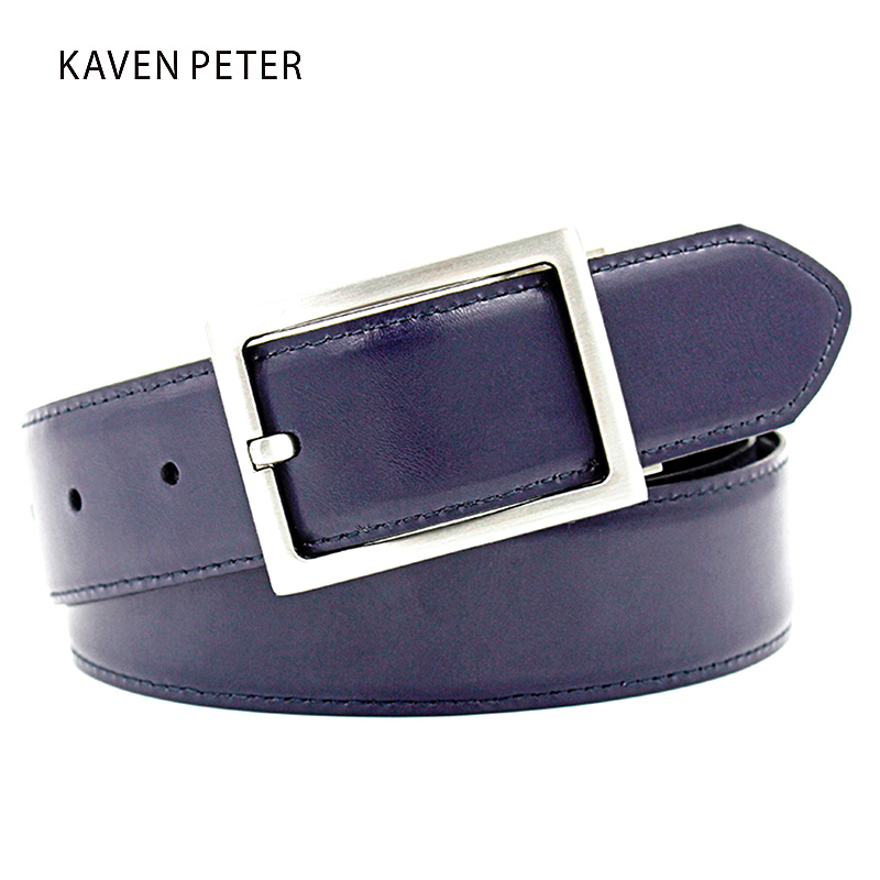 Belts For Men High Quality Genuine Leather Hot Belts Men Leather Designer Genuine Real Leather Mans Belt Cinto Masculino Navy