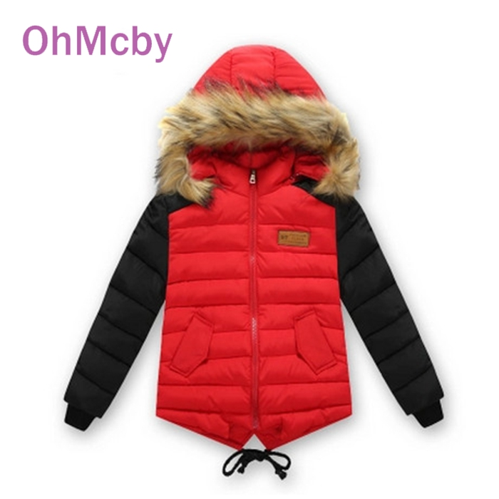 ФОТО New Kids Down Cotton Wadded Jacket Children Clothing Outwear Boys Winter Cotton-padded Jacket Boys Girls Thicken Hooded Coat