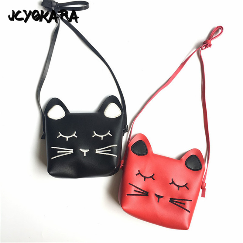 1pc New Hottest Small Cat Messenger Bag For Kids Baby Girls Cute Cat Coin Purse Mini Shoulder Children Small Bag Kids & Baby's Bags