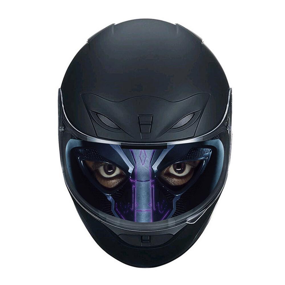 Helmet Decor Sticker Detachable Motorcycle Racing Helmet Lens Visor Sticker Cool Applique Personality Translucent Lens Patch