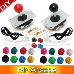 Frete grátis arcade joystick kit diy zero atraso arcade diy kit usb codificador para pc cópia de arcada sanwa joystick botões mame