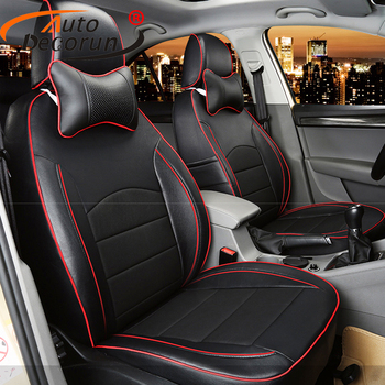 AutoDecorun PU leather covers seat car for cadillac ATS 2013-2015 seat cover set custom fit car cushion supprots seat protection