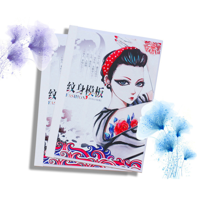 358pcs Glitter Tattoo Book Drawing For Painting Airbrush Temporary Tattoos Henna Templates Stickers