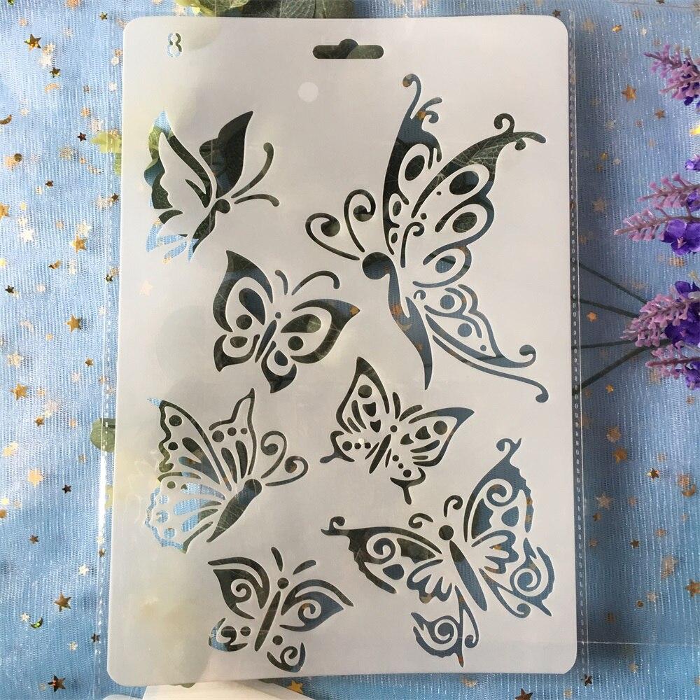 26cm Butterflies DIY Craft Layering Stencils Painting Scrapbooking Stamping Embossing Album Paper Template