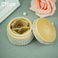 1PC Rustic Chic Wedding Wooden Ring Bearer Box Personalized Engraved Customized Wedding Gift Photography Props For