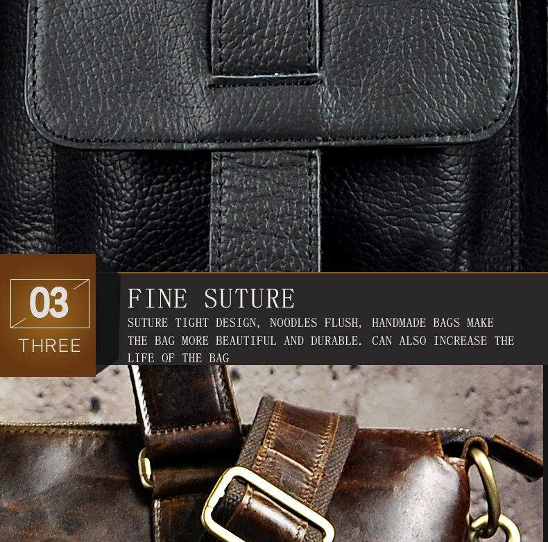 "HTB146kddlTH8KJjy0Fiq6ARsXXa4 Men Genuine Leather Office Maletas Business Briefcase 15.6"" Laptop Case Attache Portfolio Bag Maletin Messenger Bag B260"